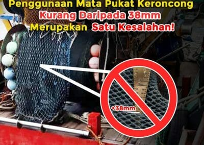 Nets less than 38 milimeters are illegal