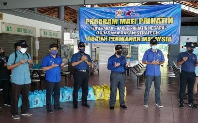 A total of 180 food baskets were channeled in conjunction with the MAFI Prihatin program held at the Tanjung Leman Jetty Terminal, Johor