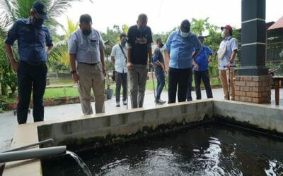 Director General of the Department of Fisheries Malaysia, YBhg.  Mr. Ahmad Tarmidzi B Ramly A.M.K.  has paid a working visit to Far East Planet Agrofarm in Mersing
