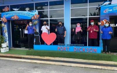 Working Visit of the Director General of the Department of Fisheries Malaysia, YBhg.  Encik Ahmad Tarmidzi bin Ramly, AMK with MAFI Senior Secretary (Management) to Port Dickson Ornamental Fish Center (PIH PD)