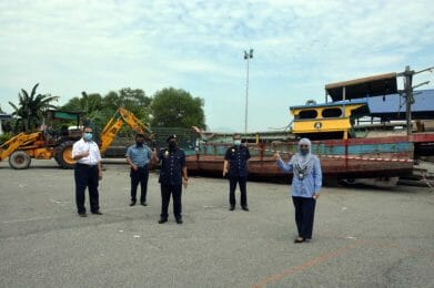 Program Pelupusan Vesel Rampasan di Kampung Acheh, Perak.