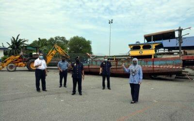 Confiscated Vessel Disposal Program in Kampung Acheh, Perak.