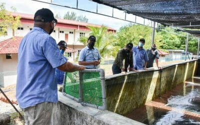 Visit of Deputy Secretary General (Development), Ministry of Agriculture and Food Industry (MAFI), Datuk Badrul Hisham Bin Mohd to Fisheries Research Institute Langkawi (FRI Langkawi).
