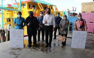 Working Visit of the Director General of Fisheries Malaysia,  to Hutan Melintang, Perak.
