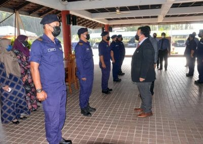 Sesi Ramah Mesra Ketua Pengarah Perikanan Malaysia, Tuan Ahmad Tarmidzi bin Ramly AMK bersama kakitangan Komponen Perikanan Negeri Terengganu di Dewan Besar Akademi Perikanan Malaysia.