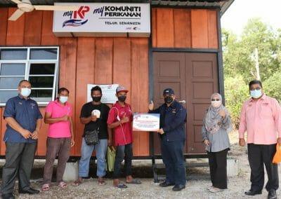 Lawatan Ketua Pengarah Perikanan Malaysia ke Projek Crab Bank Box dan FTC MyKP Teluk Senangin, Manjung, Perak.