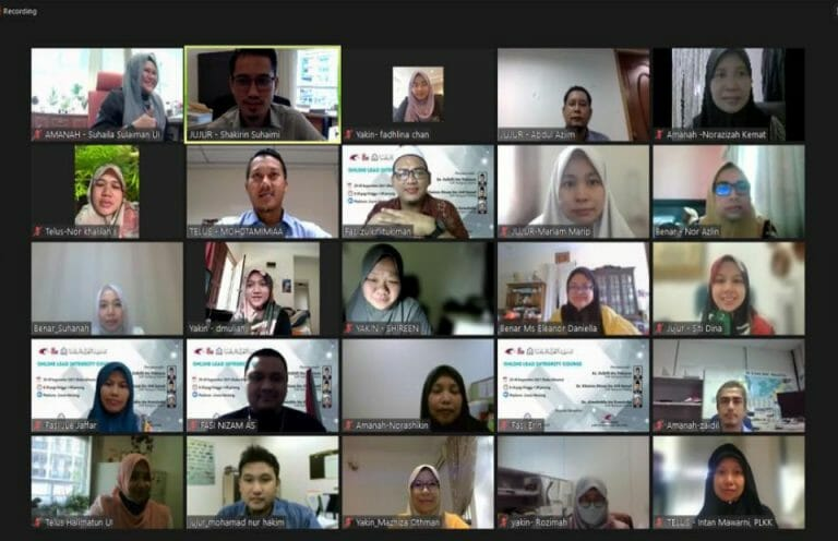 Unit Integriti dengan kerjasama Institut Latihan Islam Malaysia (ILIM) telah menganjurkan satu kursus kepimpinan melibatkan kakitangan Kumpulan Pengurusan dan Profesional Gred 44 pada 29 – 30 September 2021.