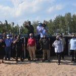 Lawatan Kerja Ketua Pengarah Perikanan Malaysia, Tuan Ahmad Tarmidzi bin Ramly AMK ke Kolam Udang Super Intensif Serandu Aquaponic System Sdn Bhd (SAS) di Pekan, Pahang.