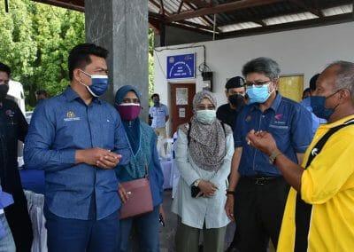 Lawatan Kerja Timbalan Ketua Setiausaha (Pembangunan) Datuk Badrul Hisham Mohd, Kementerian Pertanian dan Industri Makanan (MAFI) ke Kebun Kerang, Lekir, Perak.